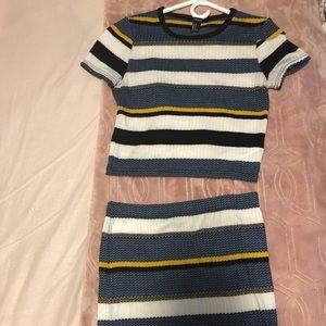 Stripe two piece set